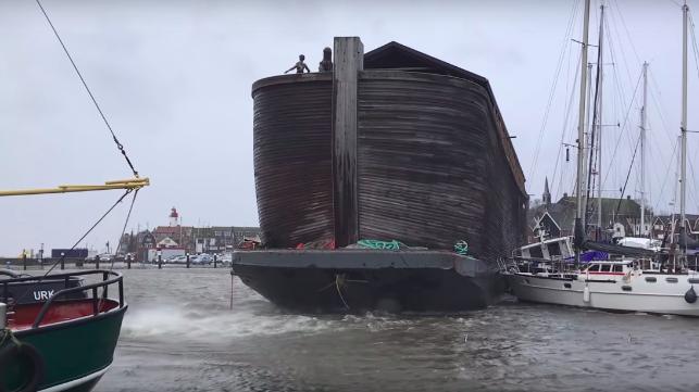 Ark Crashes into Marina