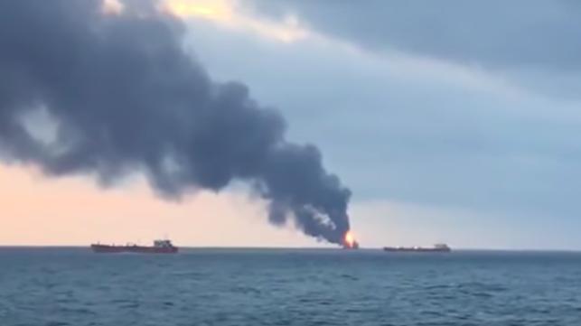 LPG Carrier Fire at Kerch Strait Finally Burns Out