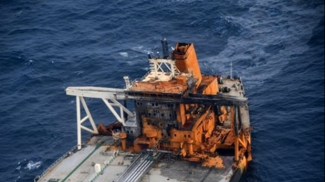 environmental damage claim from fire aboard tanker