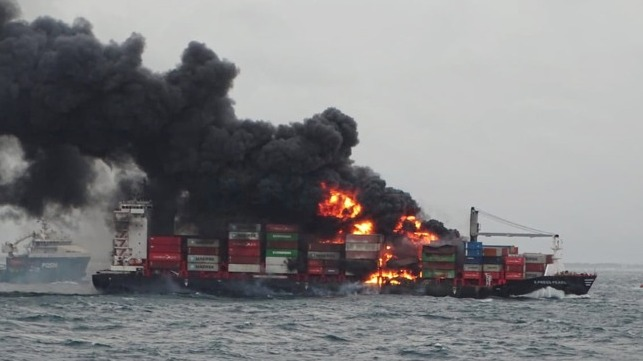 containership fire intensifies off Sri Lanka