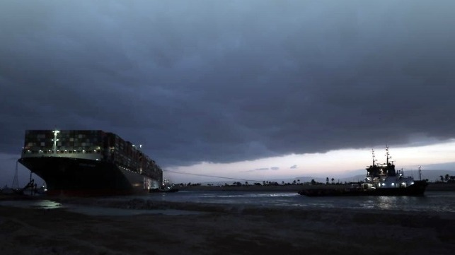 suez canal authority ever given aground