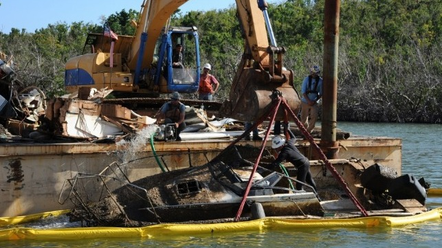 boat wreck marine salvage resolve marine