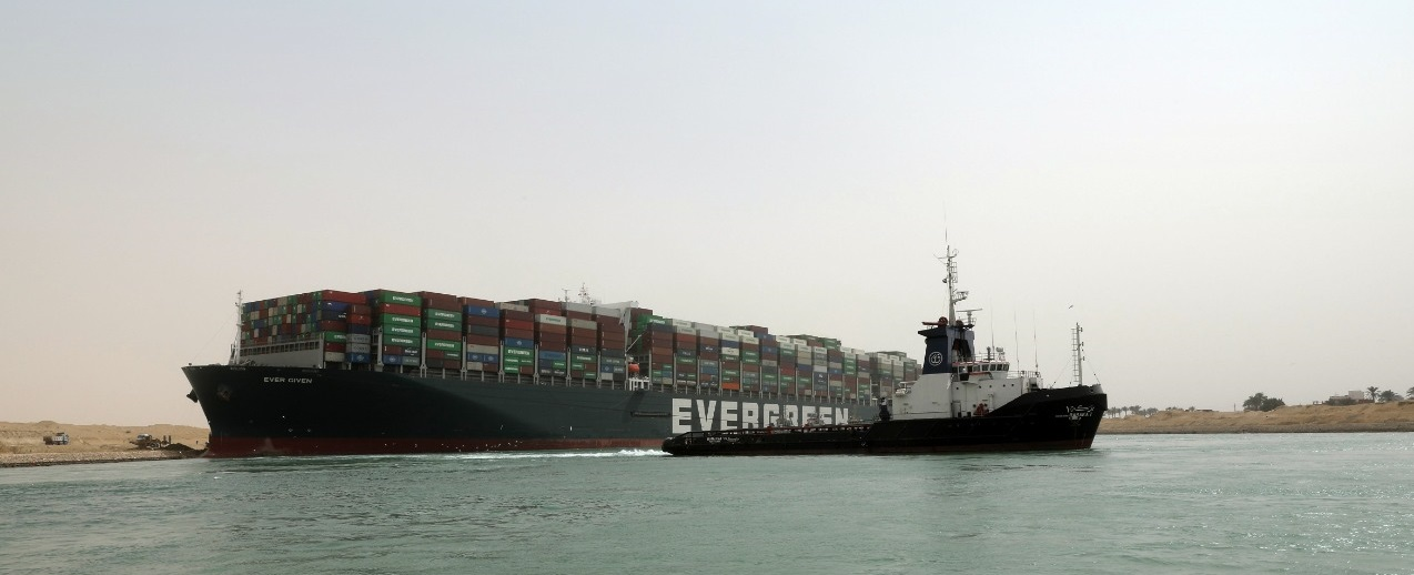 "Giant Boxship Ever Given Could Block Suez Canal for ""Weeks"""