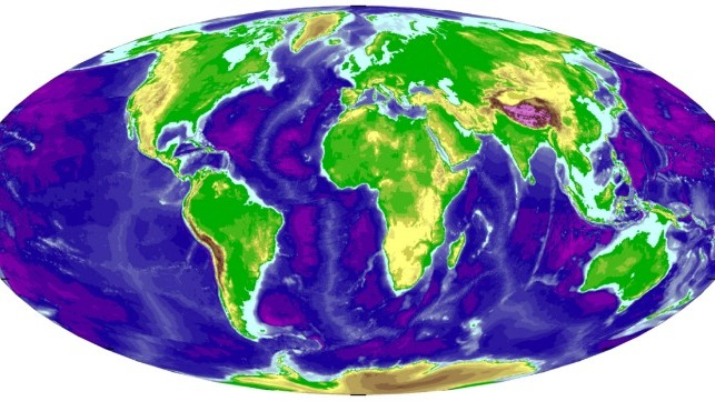 Topographic Map Of Ocean Floor.Nippon Foundation Wants To Map Entire Ocean Floor By 2030